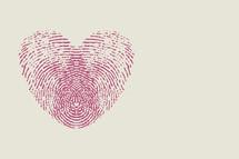 fingerprint heart pink