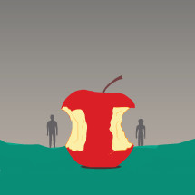 bite out of an apple and Adam and Eve