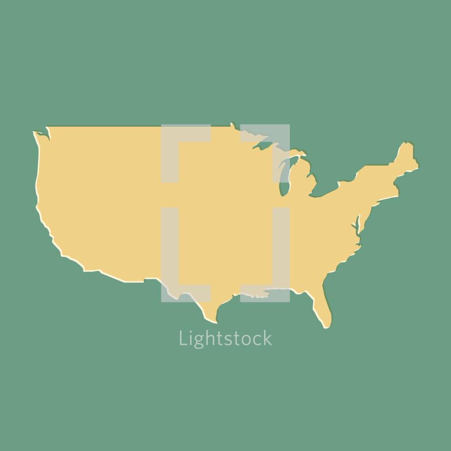 United States of America vector illustration.