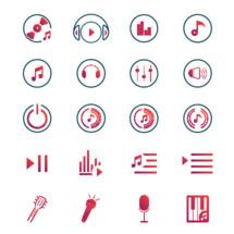 Music player icon set