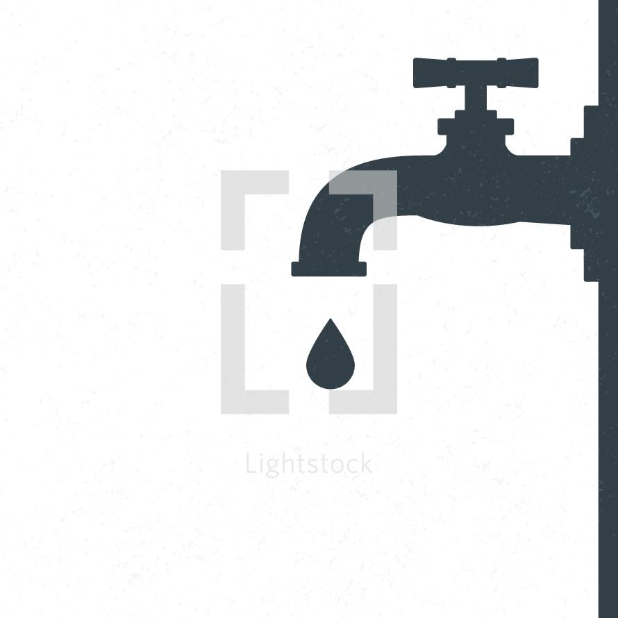 dripping water from a spigot