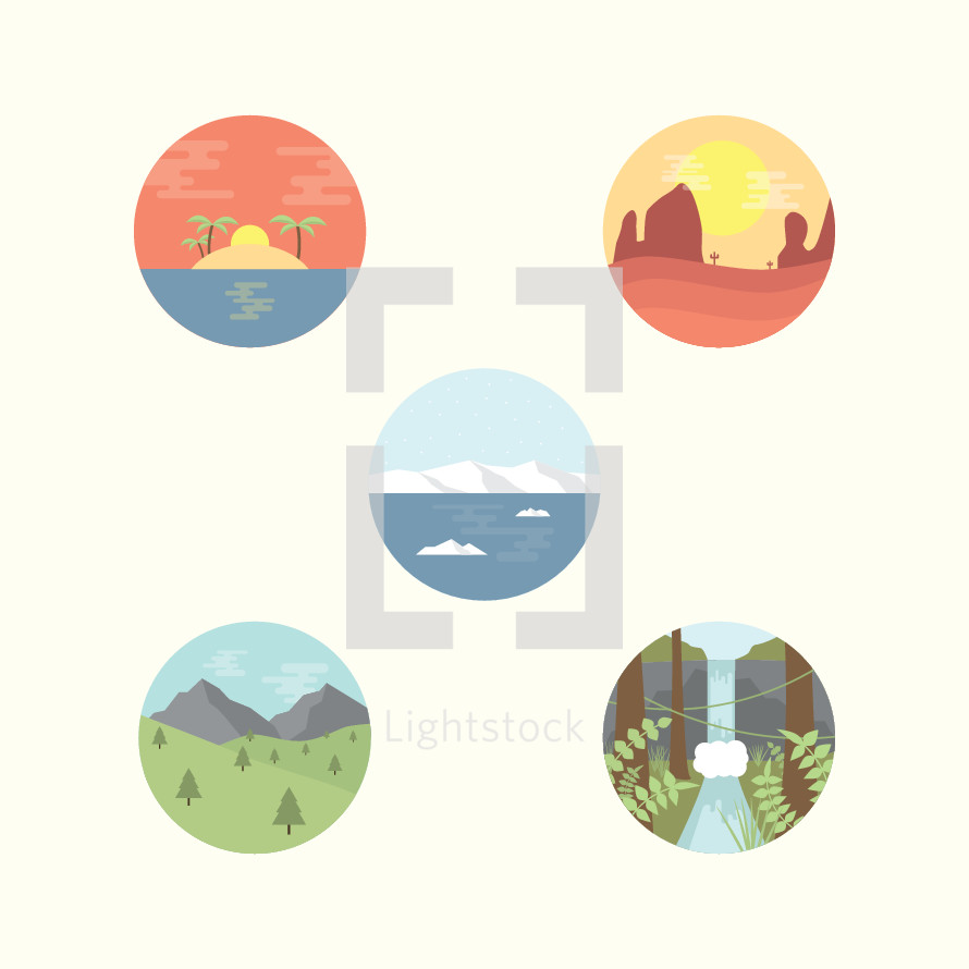 nature icons.