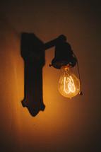 glow of a lightbulb
