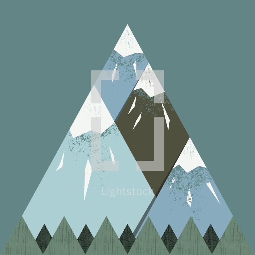 mountains illustration.