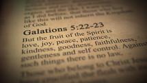 Galations 5:22-23