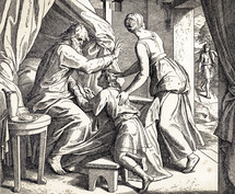Jacob Gets Isaac's Blessing, Genesis 27:21-30