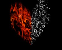 A fire and water heart.