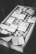open Bibles on a table