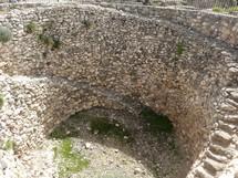 """Ancient grain silo at Megiddo (""""Armageddon"""")"""