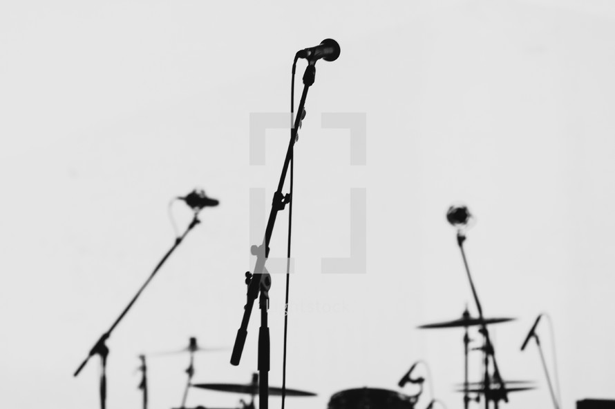 Microphone By A Drum Set Photo By Knut Burmeister Lightstock
