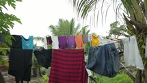 clothes on a clothesline in Burundi