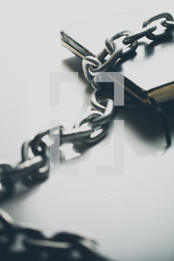 Bible bound in chains
