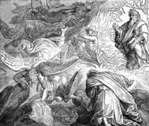 God appears to Elijah on Mount Horeb, 1 Kings, 19: 11-12