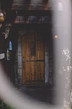 wood door to a cellar