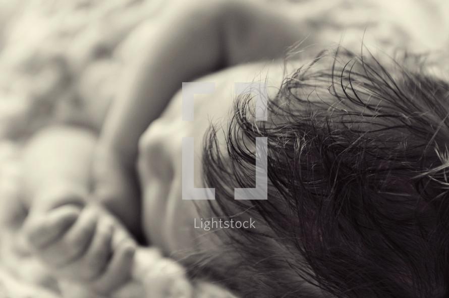 Sleeping infant.
