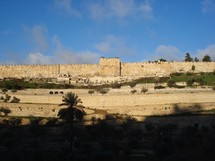 The Eastern Gate in Jerusalem's Old City Wall