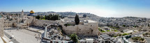 Panorama view of the Western Wall, Dome of the Rock (Jerusalem, Israel)