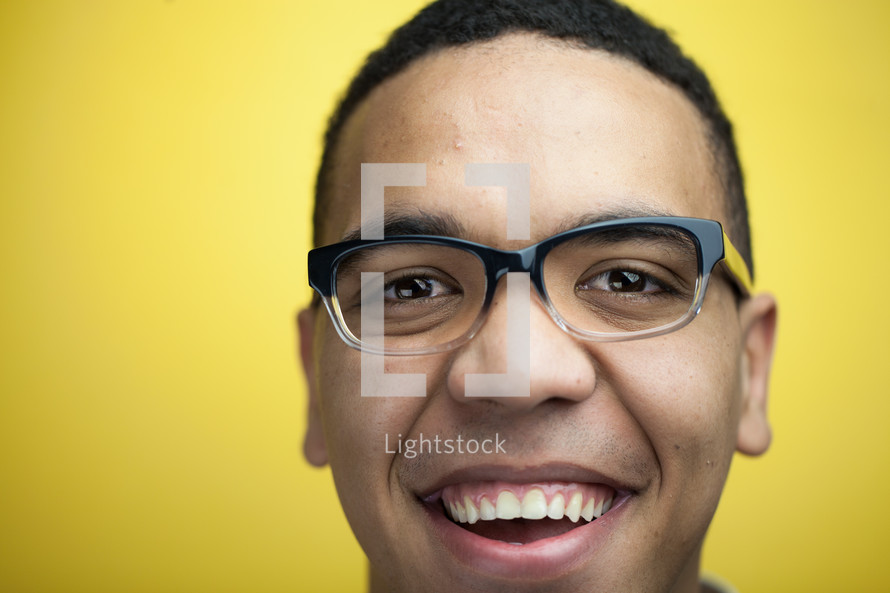 face of a smiling man