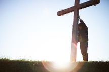 man and a cross