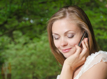 Woman talking on the mobile phone.