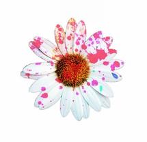 paint splatter on a daisy