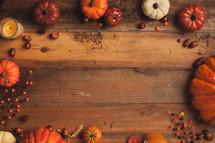 fall and pumpkin border