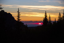 sunset in the horizon Lost Creek Wilderness