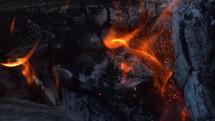 coals and flames