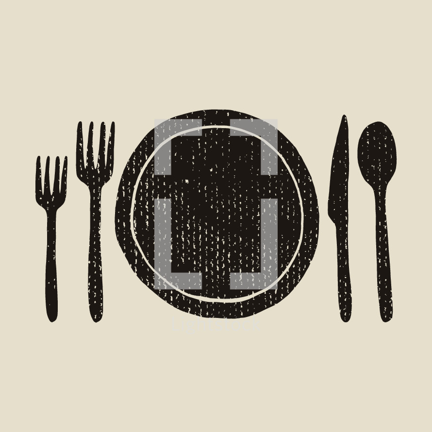 place setting illustration.