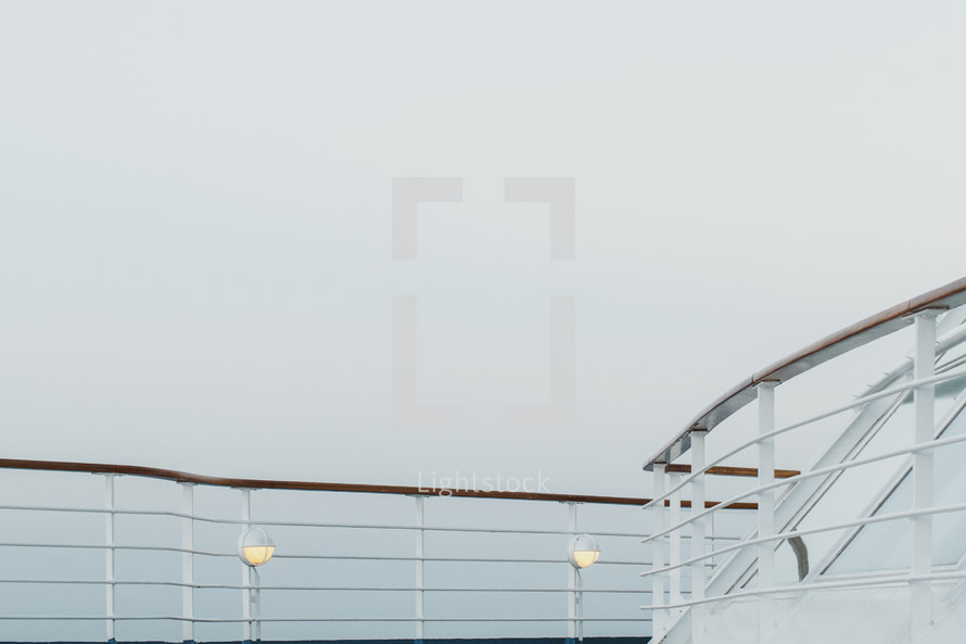 railing on a cruise ship