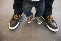 father and son's shoes