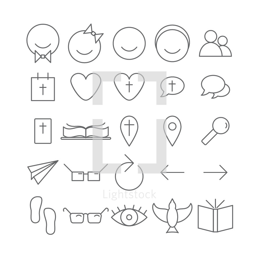 simple lines, sketches, eye, glasses, foot prints, dove, book, Bible, icons, arrow, reverse, paper airplane, pin point, magnifying glass, heart, smiling face, face, man, woman, love, marriage, homosexuality, gay,  thought bubble, people, cross