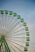 green ferries wheel