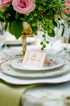 name tags on place settings
