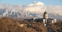 Utah capitol building and clouds