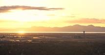 Salt Lake City airport at sunset