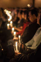 A Christmas Eve Candle Light service
