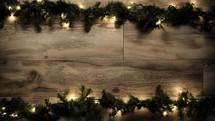 Christmas garland border