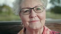 face of a senior woman