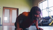a man doing pushups
