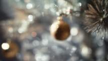 Christmas balls on a Christmas tree