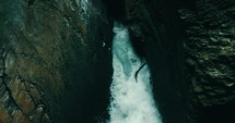 rushing water in a crevice