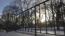 winter snow on a porch