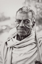 elderly Ethiopian shepherd