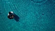 overhead - baptism in water