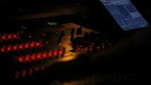 soundboard at a concert