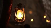 a swaying lantern