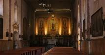 Santa Barbara mission interior