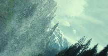 water flowing in a waterfall