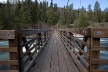 wooden bridge over a river